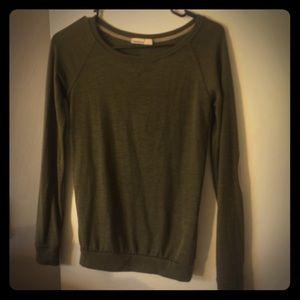 Olive Bershka knit top 🧶